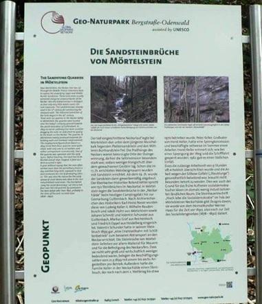 Infotafel Sandsteinbrücke Mörtelstein