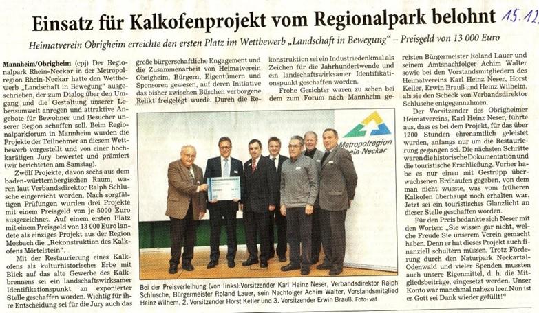 Heimatverein Kalkofenprojekt